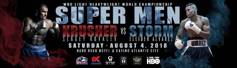 "Eleider ""Storm"" Alvarez, Sergey Kovalev - The fastest rising star under the joint banner of Krusher Promotions and Main Events plans to get some attention in Atlantic City on the undercard of the Sergey ""Krusher"" Kovalev vs. Eleider ""Storm"" Alvarez card at the Hard Rock Hotel & Casino's Etess Arena on Saturday, August 4."