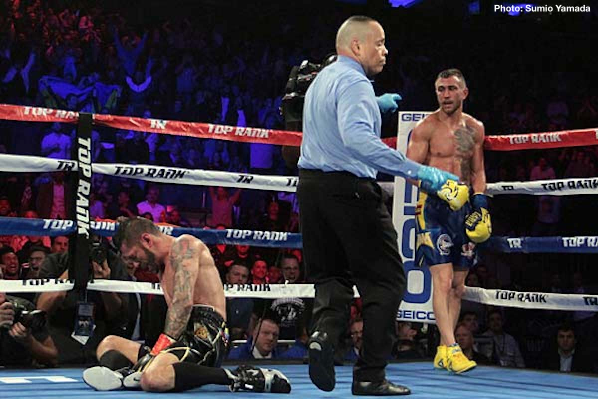 "Mikey Garcia, Vasyl Lomachenko - What next for the brilliant Vasyl Lomachenko? After he has had himself the decent rest that is needed after his at times tough and testing battle with Jorge Linares (it was revealed at yesterday's post-fight press conference how Lomachenko had a problem with his shoulder in the early going of the fight), the newly crowned lightweight king will likely look for another big fight at 135. And going by what ""Hi-Tech"" had to say after last night's FOTY candidate of a win, a big lightweight unification fight is his bout of choice."
