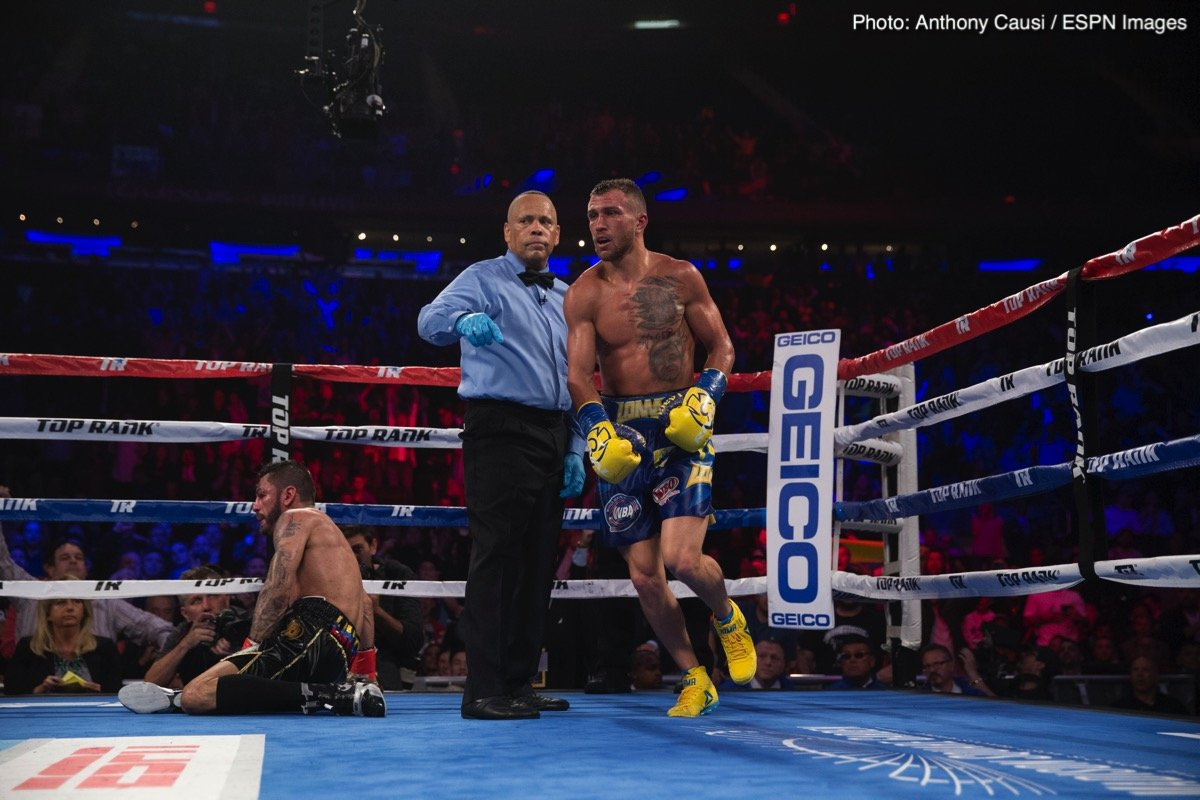 Vasyl Lomachenko says he'll be fighting in August; plans rapid return from major shoulder surgery