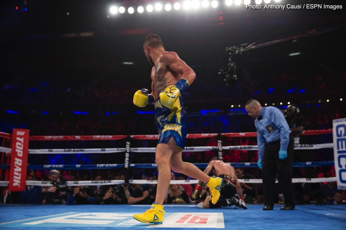 Mikey Garcia, Vasyl Lomachenko - When you are as good, as great as Vasyl Lomachenko, you can afford to look past an upcoming fight and eye up an even bigger prize. No disrespect to Jose Pedraza, who Loma will fight next - on December 8 in a WBA/WBO lightweight title fight unification clash - but this seems to be just what the reigning pound-for-pound king is doing right about now.