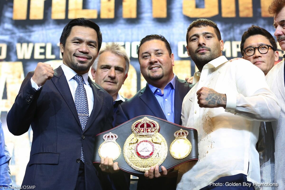 """Lucas Matthysse, Manny Pacquiao - Argentine puncher Lucas Matthysse, the reigning WBA """"regular"""" welterweight champion, has arrived in Kuala Lumper, Malaysia and the 35 year old told reporters how beating living legend Manny Pacquiao is """"a must"""" for him. The two veterans will clash on July 15 and in truth no-one knows just what to expect; how much either man has left to offer at the highest level."""