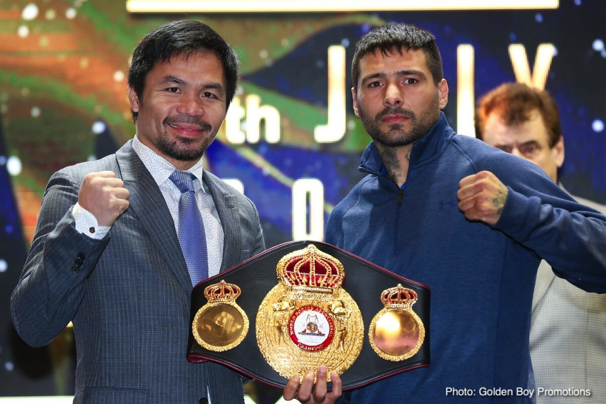 Lucas Matthysse - For quite some time now, promoter Bob Arum was telling everyone he was quite doubtful the scheduled July 15 fight between WBA welterweight belt-holder Lucas Matthysse and Manny Pacquiao would actually go ahead. Arum was sceptical the money would be there for the fight; and the Top Rank boss was even looking at having Matthysse face Terence Crawford if the fight with Manny did fall through.