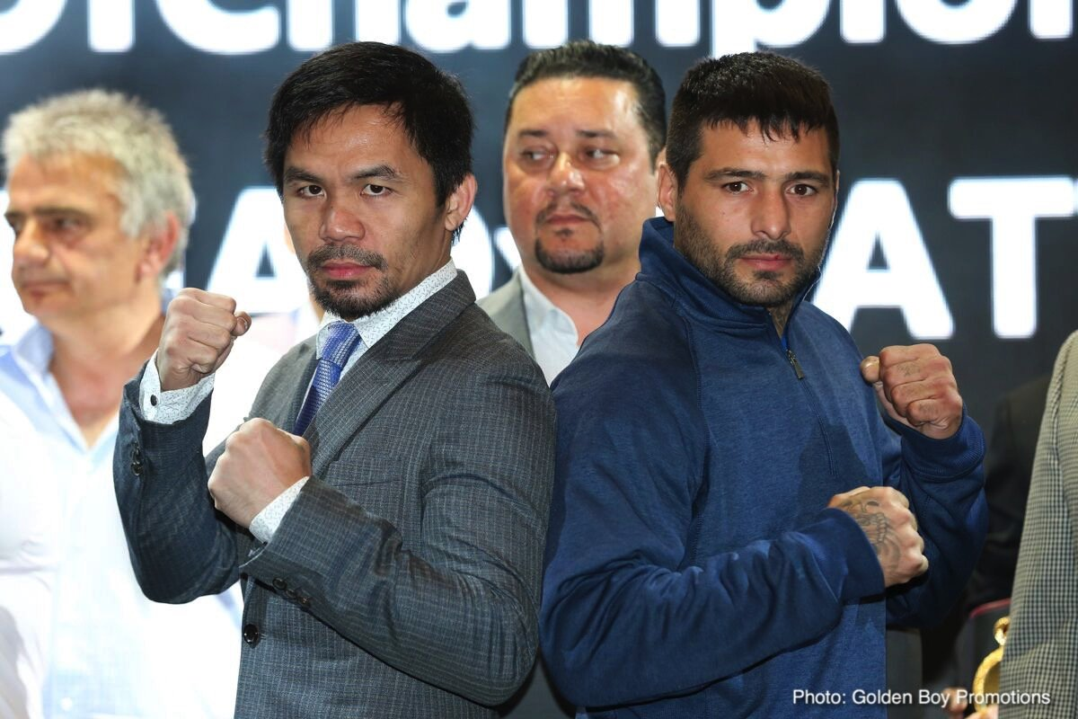 Bob Arum, Lucas Matthysse, Manny Pacquiao, Terence Crawford, Vasyl Lomachenko - Top Rank promoter Bob Arum says Manny Pacquiao has absolutely no interest in facing welterweight contender Terence 'Bud' Crawford. Arum says the fight Pacquiao (59-7-2, 38 KOs) wants is against WBA lightweight champion Vasyl Lomachenko. Pacquiao, 39, is willing to come down to 135 to make that fight happen.