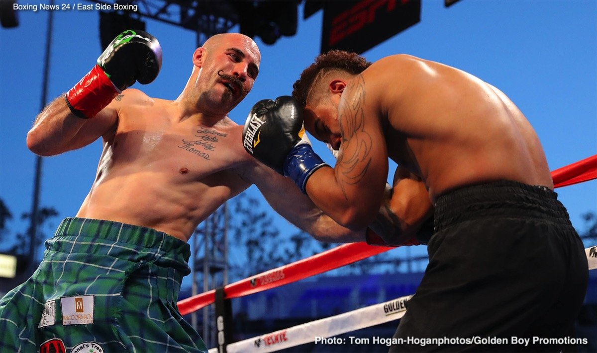 "David Lemieux, Gary ""Spike"" O'Sullivan - Both big (ish) names in the current middleweight division, former IBF champ David Lemieux and contender Gary ""Spike"" O'Sullivan are both hungry for big fights and the two are reportedly in talks for a September showdown. According to Lemieux' manager Camille Estephan, who spoke to Canadian news' TVA (tip from Irish-Boxing.com), the talks are taking place with a view to make Lemieux-O'Sullivan the chief support to the massive Gennady Golovkin-Canelo Alvarez return fight set for September 15 in Las Vegas."