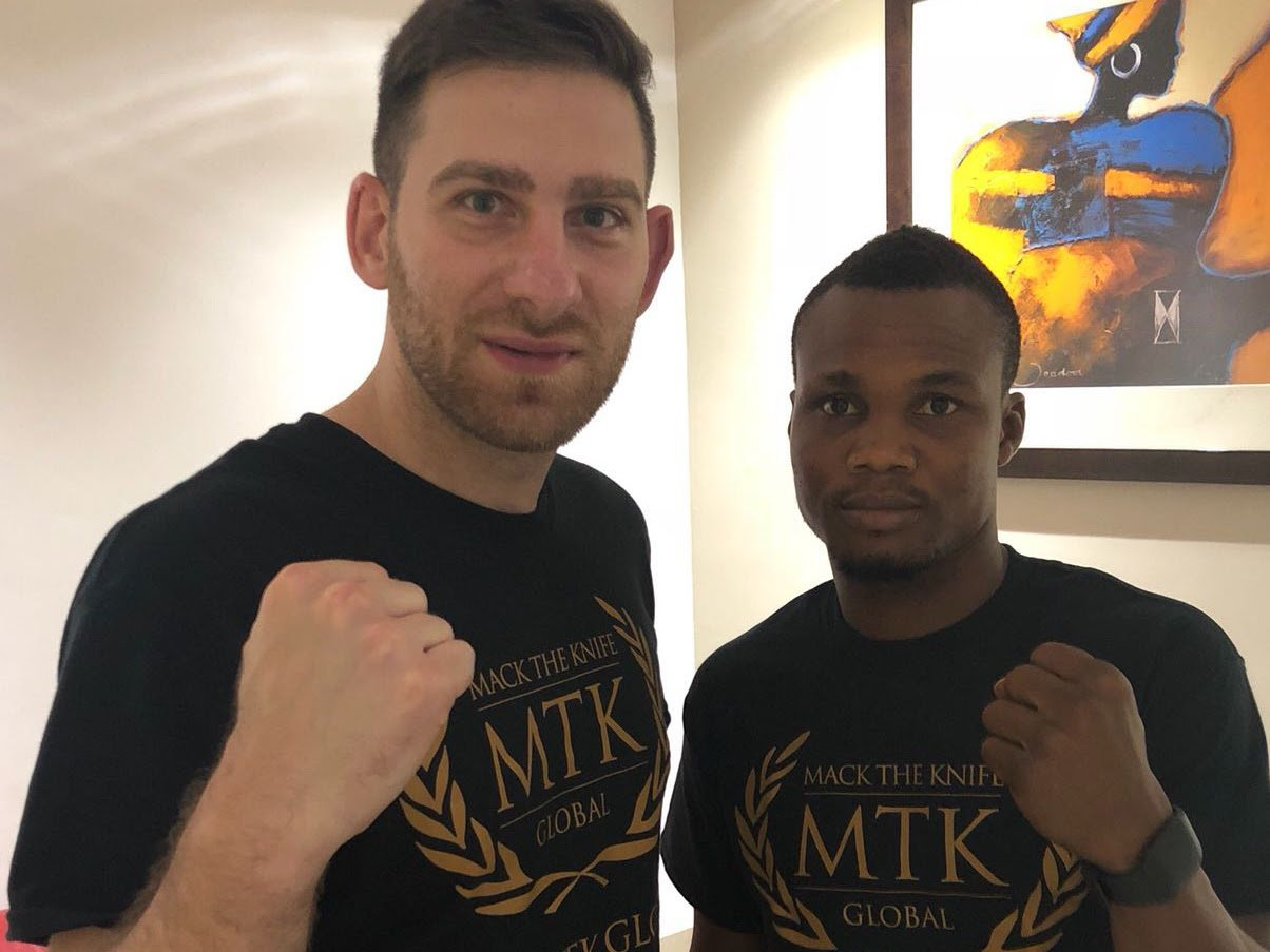 George Ashie - Ghana's recently crowned WBO Africa lightweight champion, George 'Red Tiger' Ashie has officially began a 3-year management stint with Dubai based leading boxing management firm, MTK Global after formally signing up in Accra today.