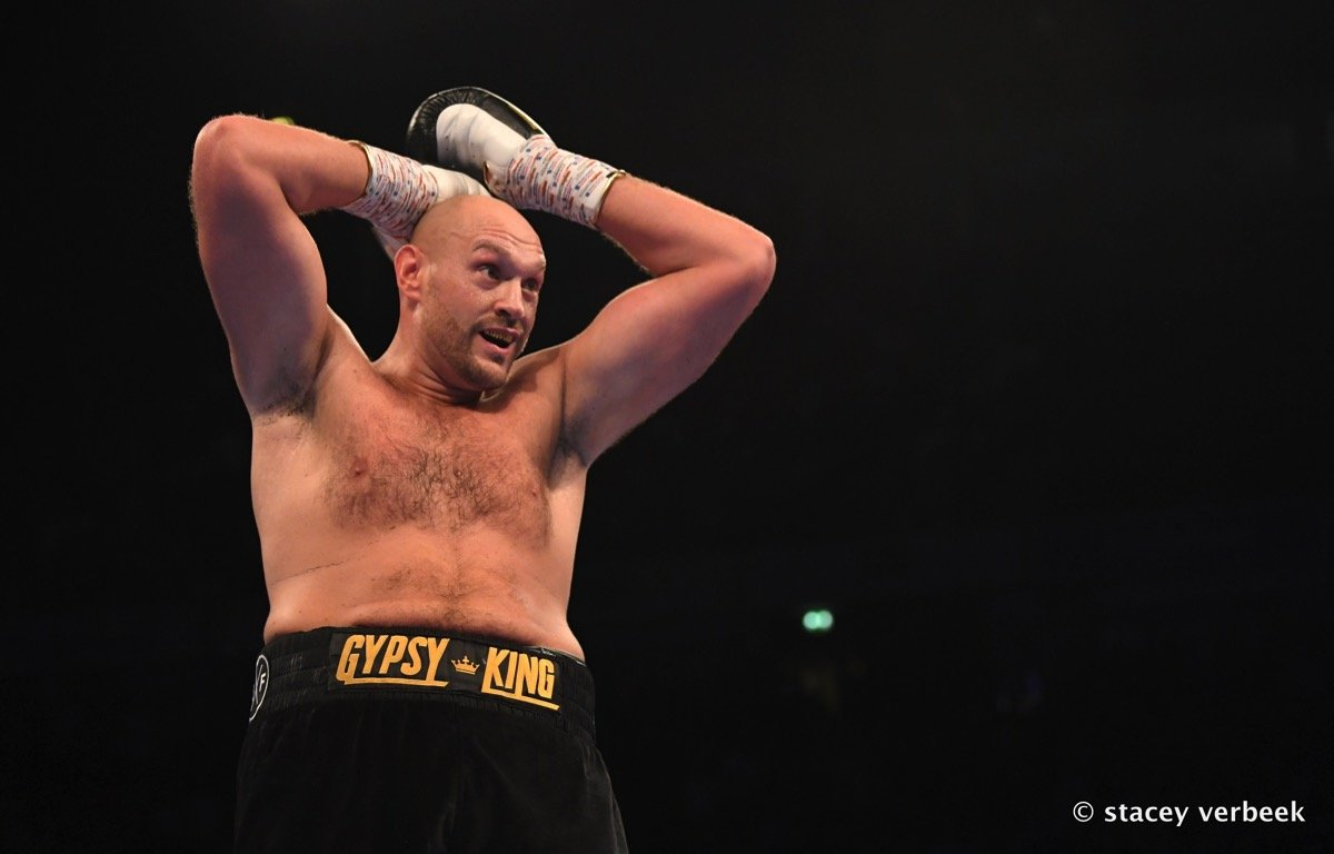 Sefer Seferi - Tyson Fury (26-0, 19 KOs) looked worse than expected in in his comeback on Saturday night in stopping Sefer Seferi (23-2, 21 KOs) in a 4th round TKO when the Albanian decided he'd had enough after the round ended at the Manchester Arena in Manchester, England.