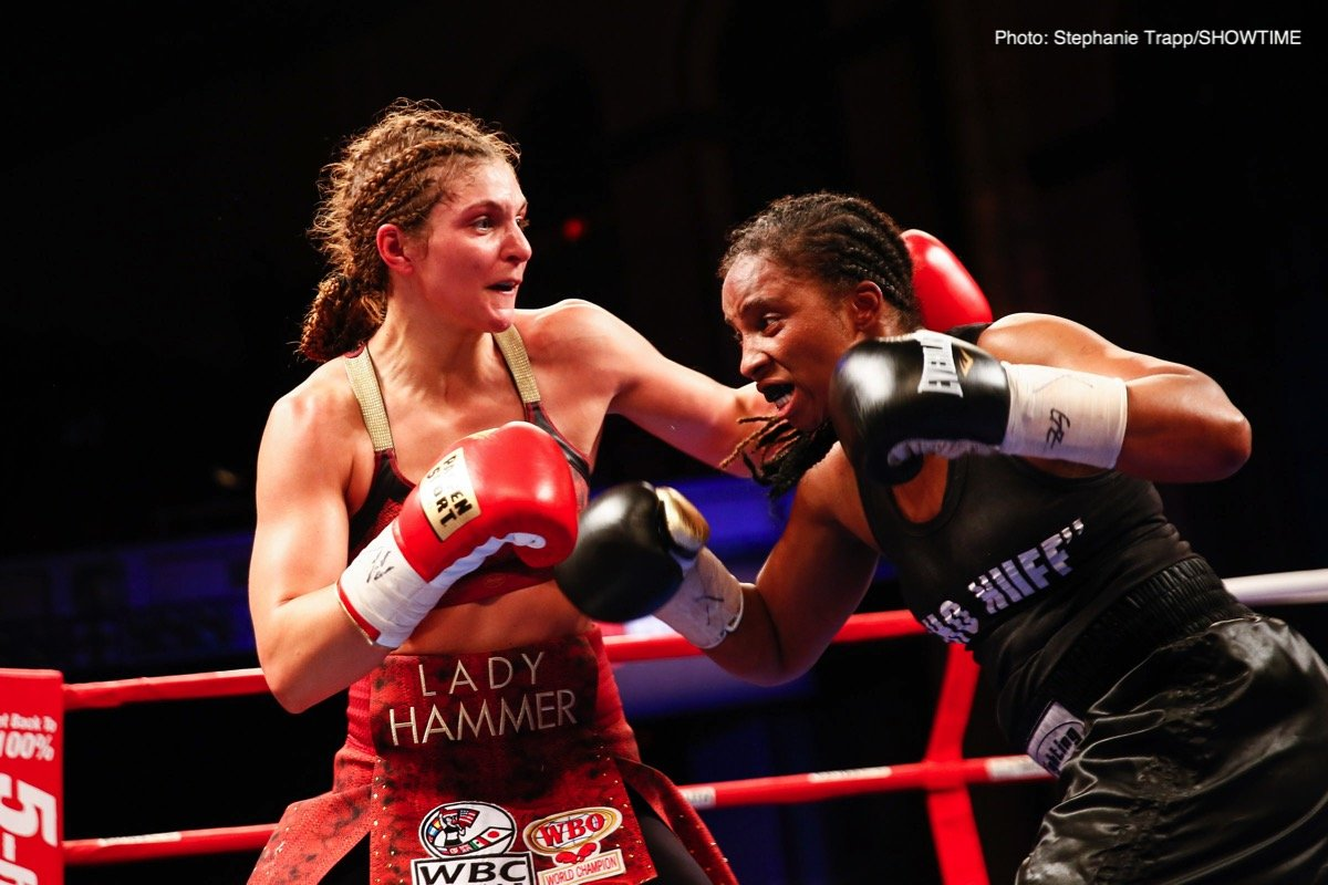 WBO/WBC World Female middleweight champion Christina Hammer (23-0, 10 KOs) will be taking a non-title fight against little known journeyman Elene Sikmashvili (8-7, 4 KOs) this month on February 9 at the beautiful  Verti Music Hall, in Berlin, Germany.