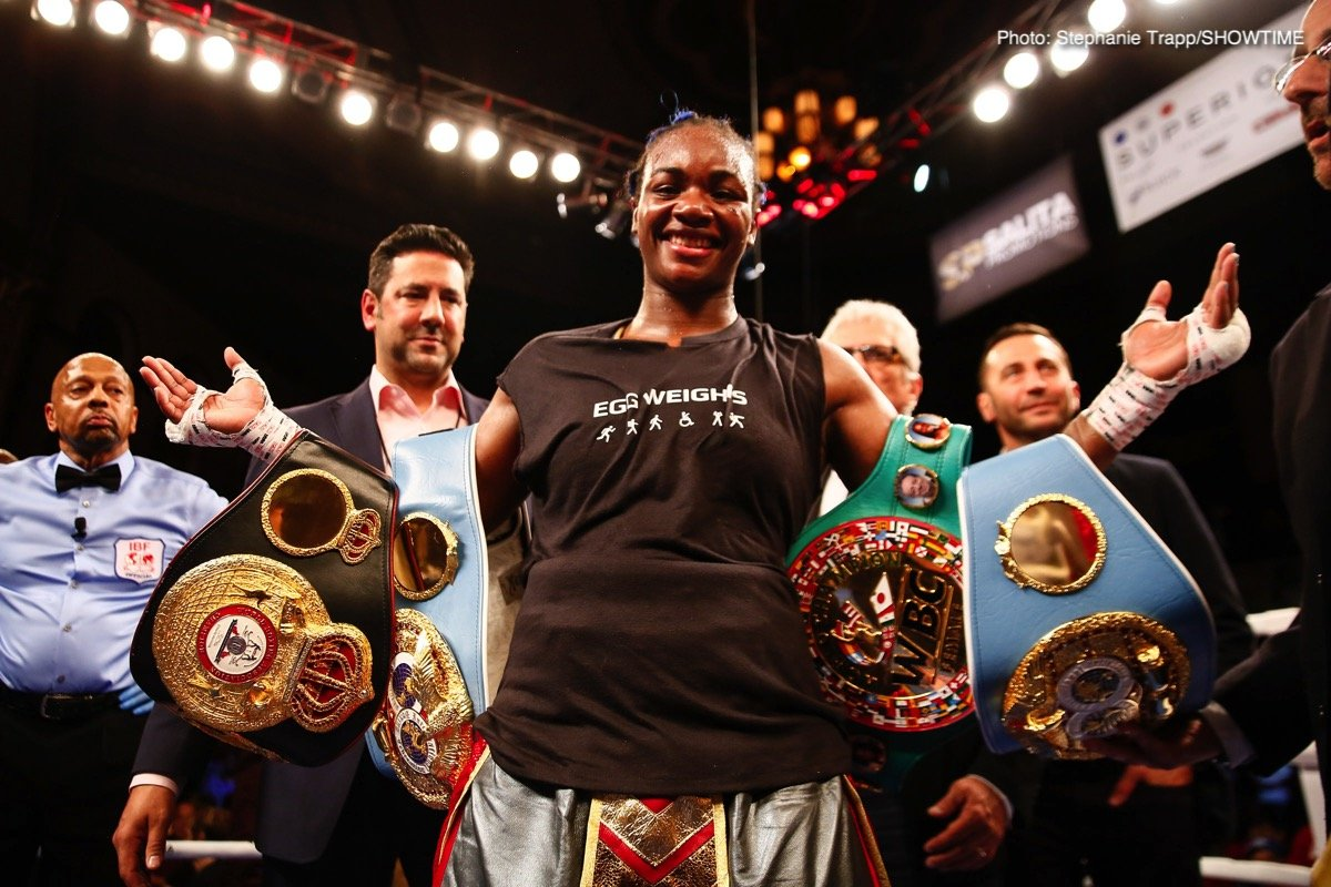 Claressa Shields - Women's superstar and two-division world champion Claressa Shields is in Florida with trainer John David Jackson, finishing up preparations for her showdown with Glasgow, Scotland's Hannahh Rankin on Saturday, November 17, at the Kansas Star Arena and Casino in Mulvane, Kansas.