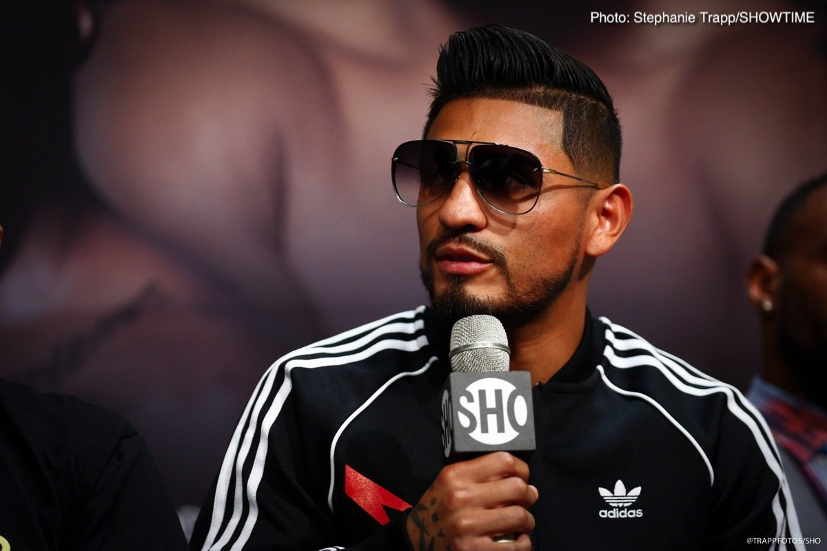 Abner Mares, Leo Santa Cruz - Featherweight world champion Leo Santa Cruz and four-time world champion Abner Mares went face-to-face at the final press conference Thursday, two days before they enter the ring for their highly-anticipated rematch this Saturday, June 9 from STAPLES Center in Los Angeles in an event presented by Premier Boxing Champions.