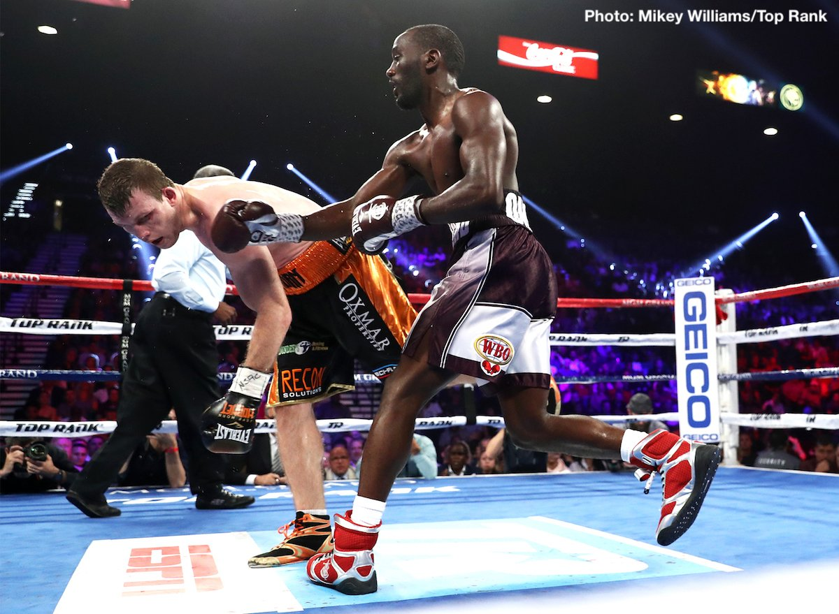 "Bob Arum says Terence Crawford will fight again in October: ""Amir Khan could be a possibility"""