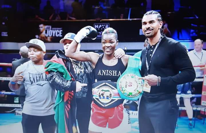 Malawi's Anisha Basheel claims round one TKO in London to win Commonwealth title