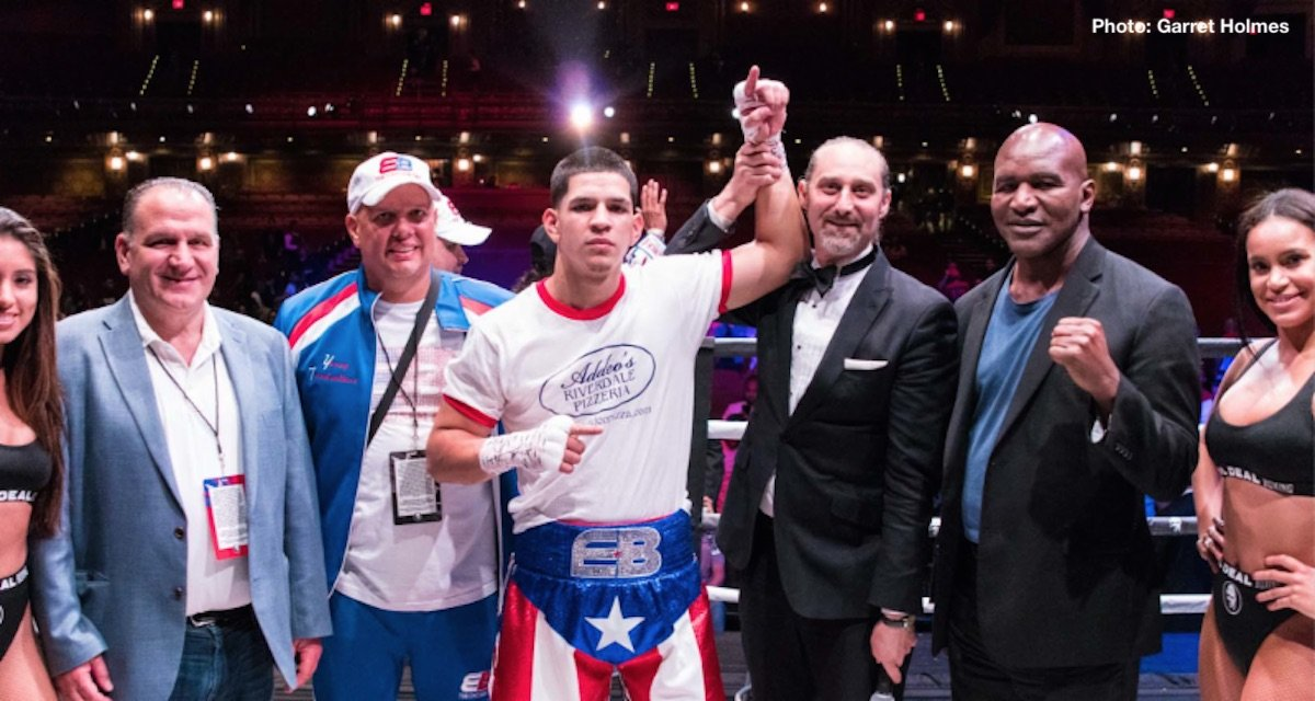 Duke Micah - It was an absolutely rocking night at The Real Deal Boxing's Puerto Rican Day Parade Showcase as a near capacity crowd in Brooklyn watched hometown hero, Edgar Berlanga (8-0, 8 KO), continue his Tyson-esque first round knockout streak with another brutal KO this time over Mexican veteran, Aaron Garcia (16-9-1, 11 KO).