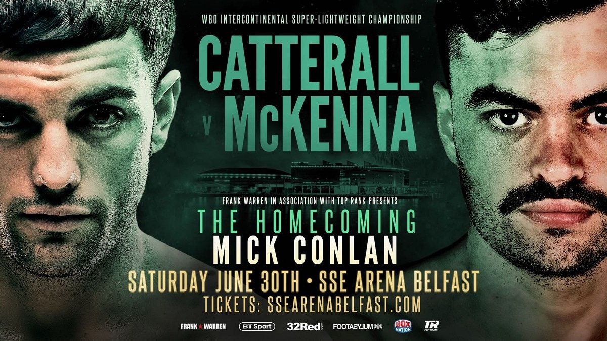 Tyrone McKenna - Belfast beanpole Tyrone McKenna believes that a clinical victory over world-rated ex British champion Jack Catterall at The Odyssey Arena in his home city this weekend, could catapult the former Junior Olympic medallist into a world title gig with Dallas's angular WBO king Maurice Hooker.