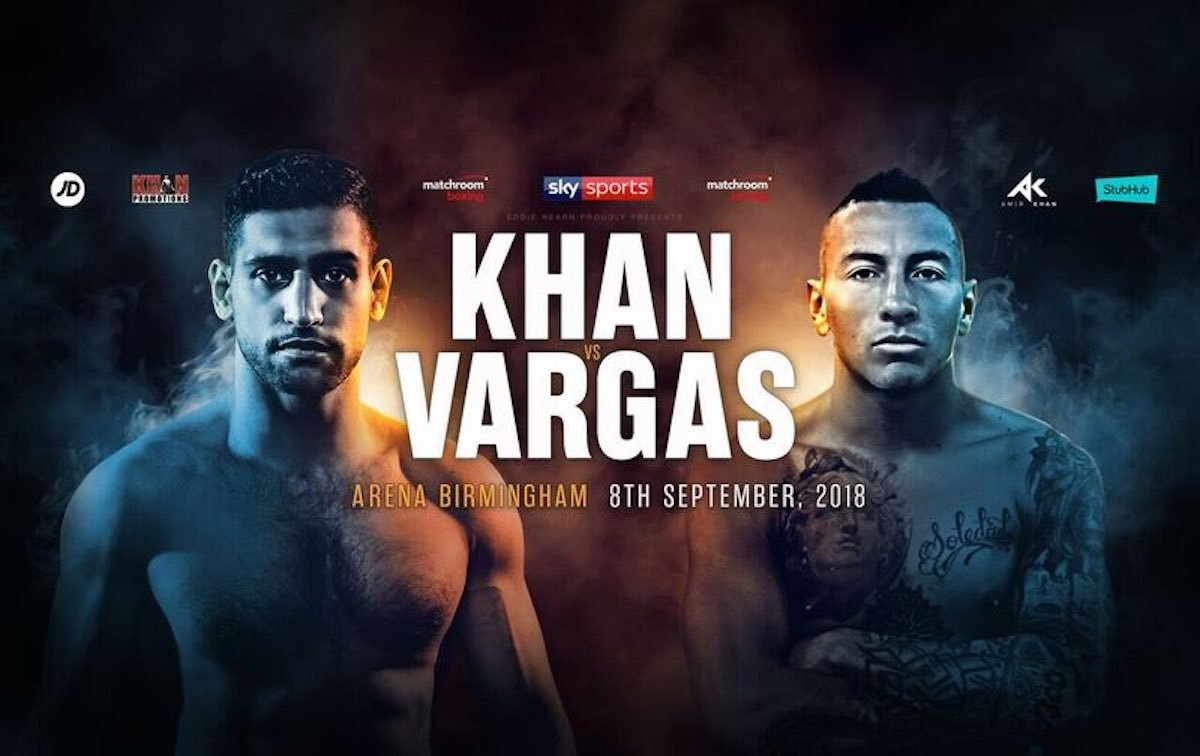 Amir Khan, Jason Welborn, Samuel Vargas, Tommy Langford - Ahead of DAZN's US launch, the live and on-demand sports streaming platform announced it will make Amir Khan vs. Samuel Vargas available for free on Facebook and Twitter. The Matchroom Boxing fight card will air live on Saturday, Sept. 8 from Arena Birmingham in the U.K. with the main event beginning at approximately 5 p.m. ET.