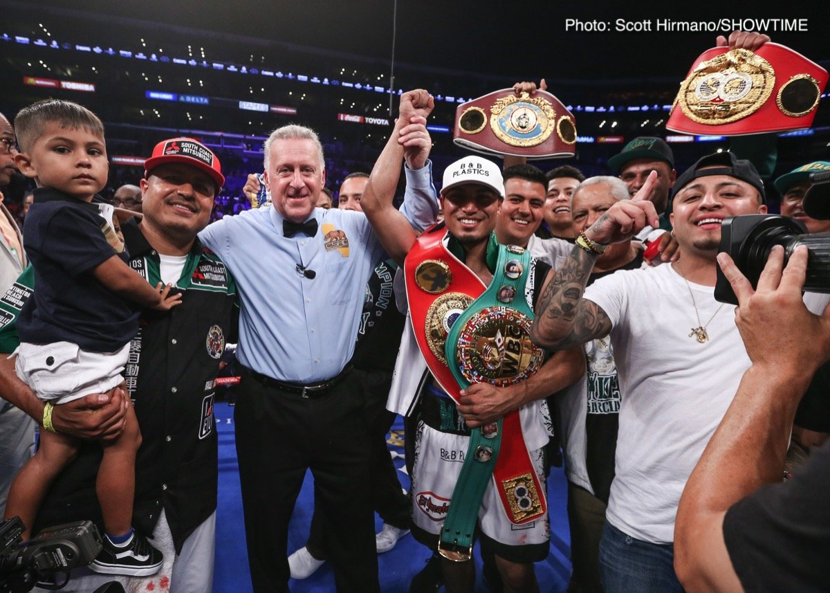 Mikey Garcia, Robert Easter Jr. - Mikey Garcia became the 10th lightweight champion to unify the division with a unanimous decision against Robert Easter Jr. Saturday on SHOWTIME, and immediately afterward set his sights on boxing's best, namely Errol Spence Jr.
