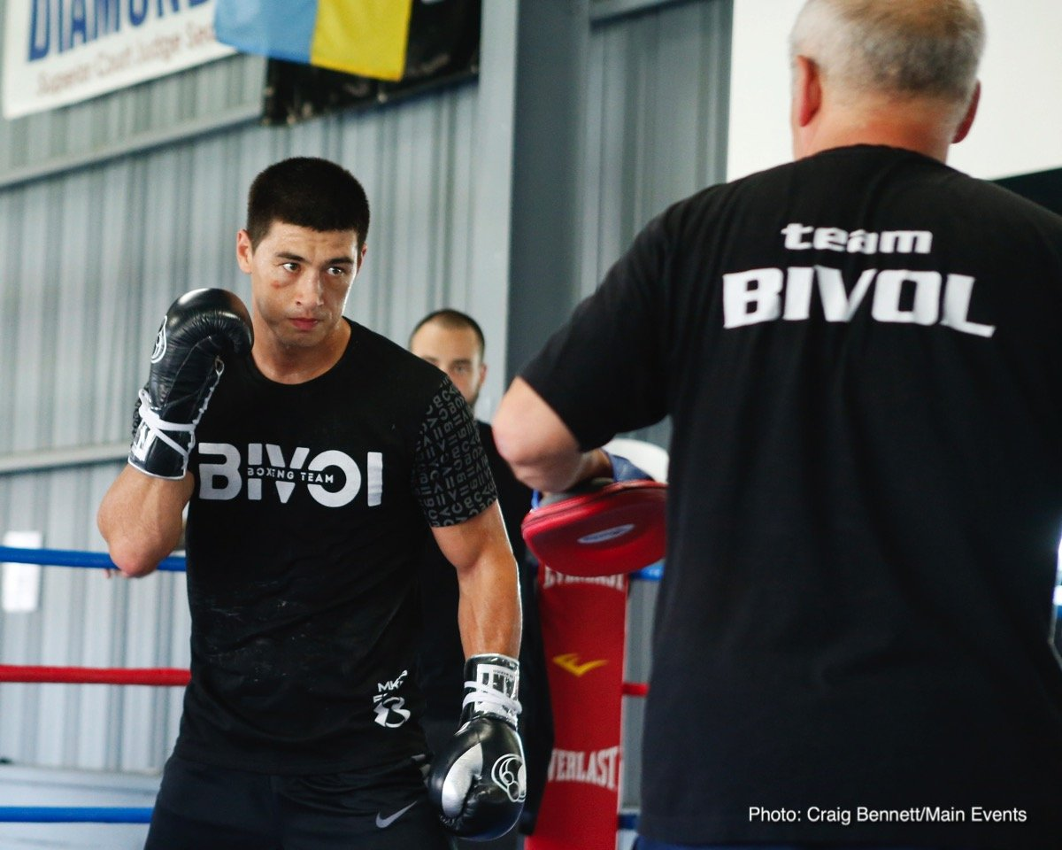 """Isaac """"Golden Boy"""" Chilemba - WBA Light Heavyweight World Champion Dmitry Bivol (13-0, 11 KOs) of Russia hosted a media workout at the Legendz Gym in Norwalk, California on Tuesday, July 24 in preparation for his title defense against light heavyweight contender Isaac """"Golden Boy"""" Chilemba (25-5-2, 10 KOs) of Malawi. Bivol and Chilemba will fight in the co-main event on the Sergey """"Krusher"""" Kovalev vs. Eleider """"Storm"""" Alvarez card at the Hard Rock Hotel & Casino Atlantic City on Saturday, August 4. The doubleheader will be televised live on HBO World Championship Boxing beginning at 10:00 p.m. ET/PT."""