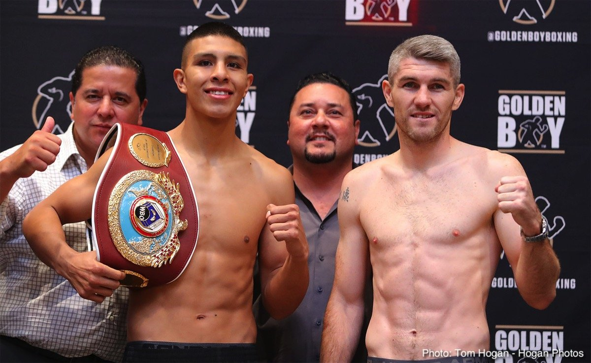 Jaime Munguia, Liam Smith - Saturday's Boxing After Dark® telecast begins at 10:00 p.m. ET/PT. Opening the telecast at The Hard Rock Hotel and Casino in Las Vegas, NV, is super featherweight champion Alberto Machado vs. Rafael Mensah in a 12-round bout.  In the main event junior middleweight champion Jaime Munguia defends his title against Liam Smith in a 12-round bout.