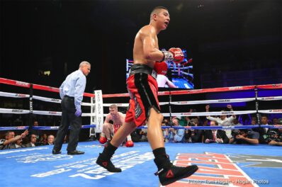 "Alberto Machado, Jaime Munguia, Liam Smith - Jaime Munguia (30-0, 25 KOs) defended his WBO Junior Middleweight World Championship against former world champion Liam ""Beefy"" Smith (26-2-1, 14 KOs) via 12-round decision in the main event of HBO Boxing After Dark on Saturday, July 21 in front of 2470 fans at The Joint at the Hard Rock Hotel & Casino, Las Vegas. Munguia scored a knockdown with a counter left hook in the sixth round of a back-and-forth battle in which the native of Tijuana, Mexico eventually won with scores of 116-111, 119-110, and 119-108."