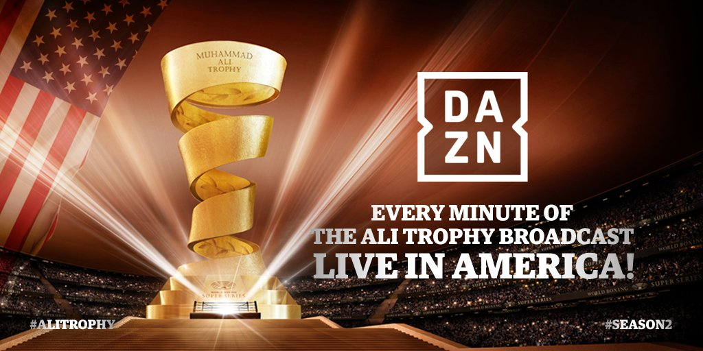- Multi-million dollar deal reached: Streaming giant DAZN to broadcast every minute of Ali Trophy across America