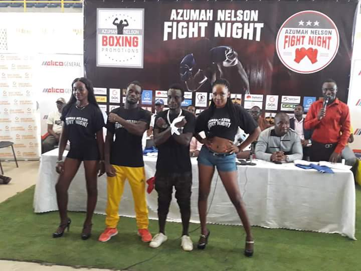 Azumah Nelson - The countdown is over and all ten boxers scheduled to fight Saturday night on the Azumah Nelson Fight Night - The Battle boxing extravaganza to honour Ghanaian ring legend, Azumah Nelson in Accra, made their required weights to set up five evenly-matched bouts at the plush Bukom Boxing Arena.