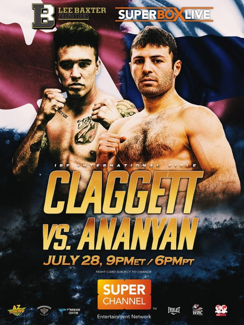 Petros Ananyan faces Steve Claggett on 7/28
