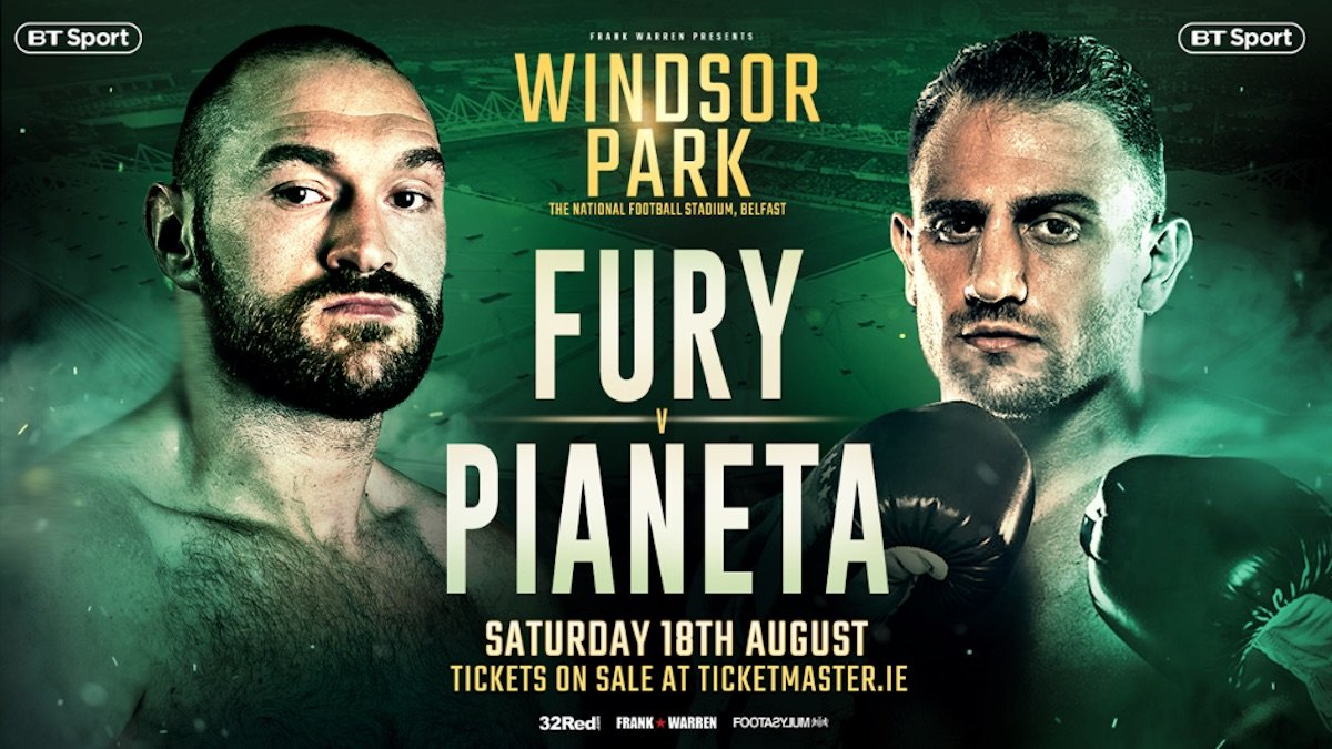 Francesco Pianeta Tyson Fury Boxing News British Boxing Top Stories Boxing