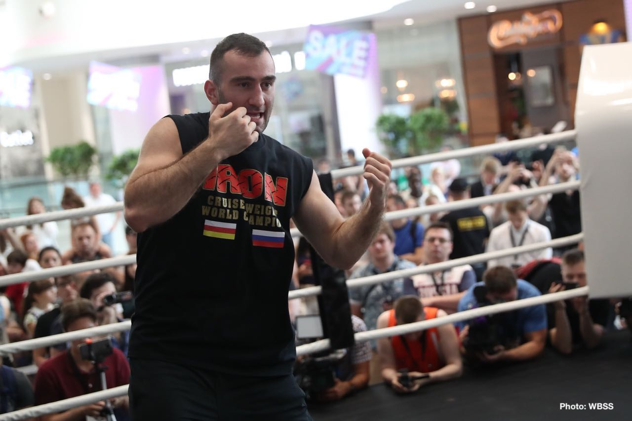 Aleksandr Usyk, Murat Gassiev - Usyk and Gassiev hit the scales in Moscow