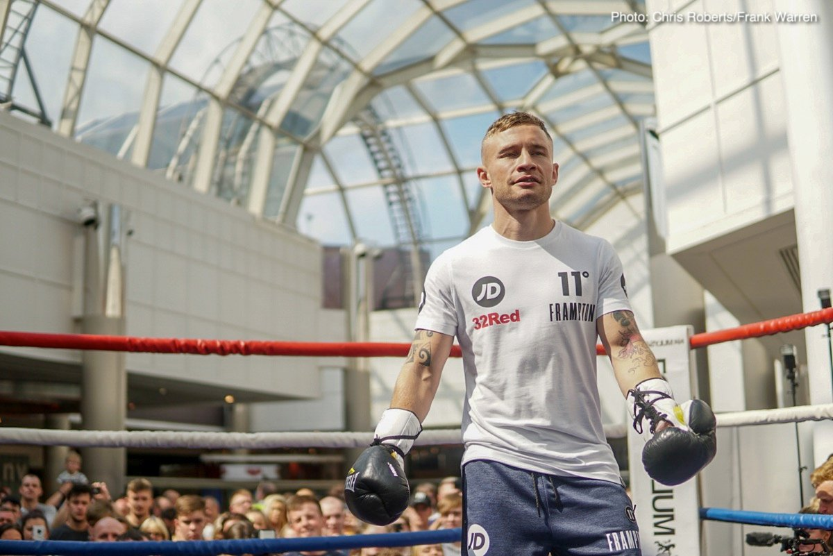 Carl Frampton Francesco Pianeta Luke Jackson Tyson Fury Boxing News British Boxing