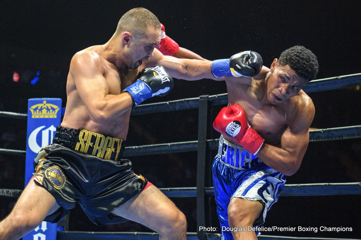 Lamont Peterson - Two-division world champion Lamont Peterson takes on former junior welterweight world champion Sergey Lipinets in a 12-round welterweight match that headlines Premier Boxing Champions on FS1 and FOX Deportes on Sunday, March 24 from MGM National Harbor in Maryland.