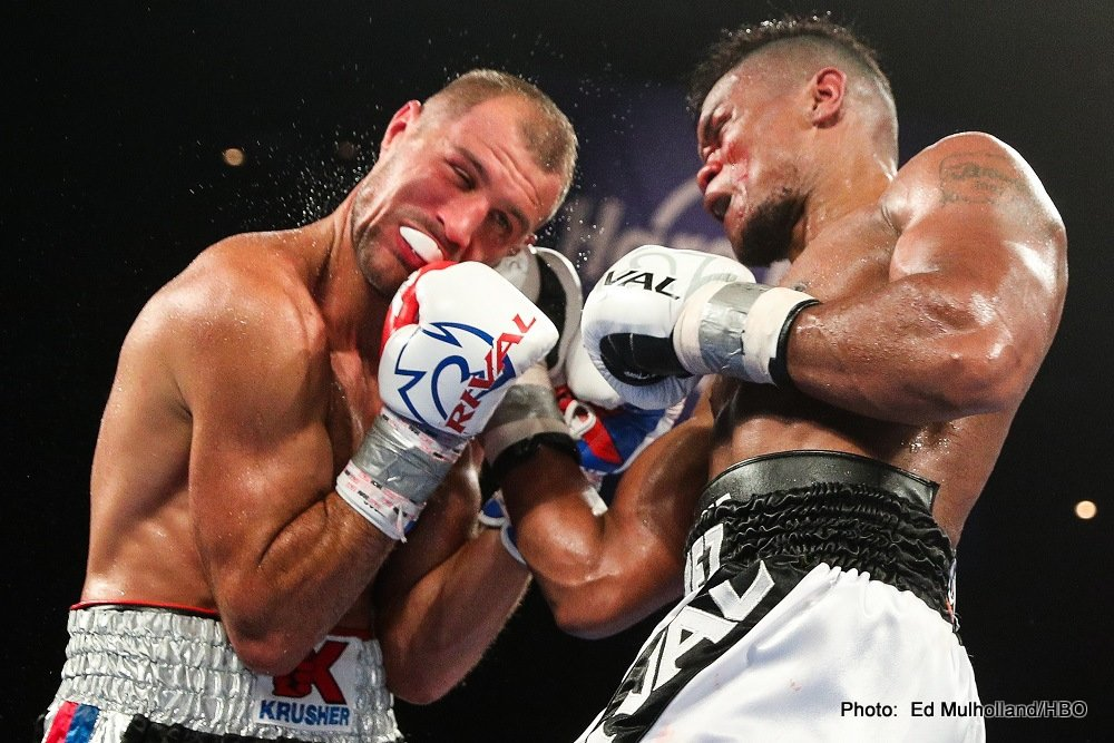 "Eleider ""Storm"" Alvarez, Sergey Kovalev - As fans know, unbeaten Colombian talent Eleider Alvarez shook up the light-heavyweight division in a big way earlier this month, stopping as he did defending WBO champ and pound-for-pound entrant Sergey Kovalev in seven exciting and very interesting rounds. There was, however, a rematch clause in the contract, and Dan Rafael of ESPN.com has reported how Kovalev will exercise it. The rematch is on, and as per the contract it must take place before the end of February."
