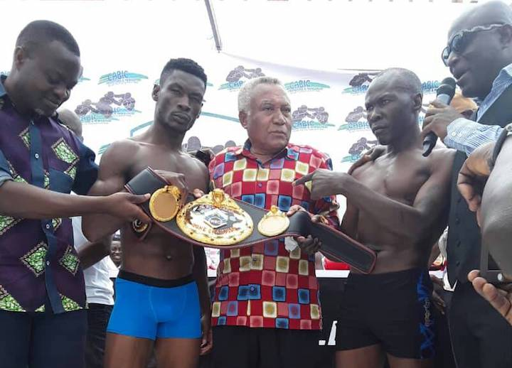 Patrick Allotey - Ghana's world title chasing Patrick Allotey (38-3, 30 KOs) tilted the scales at 152 lbs and the Ugandan challenger in their WBO Africa junior middleweight championship tonight, Badru Lusambya (26-3-2, 24 KOs) came in a pound heavier at 153 lbs at the weighs in Accra on Friday morning.