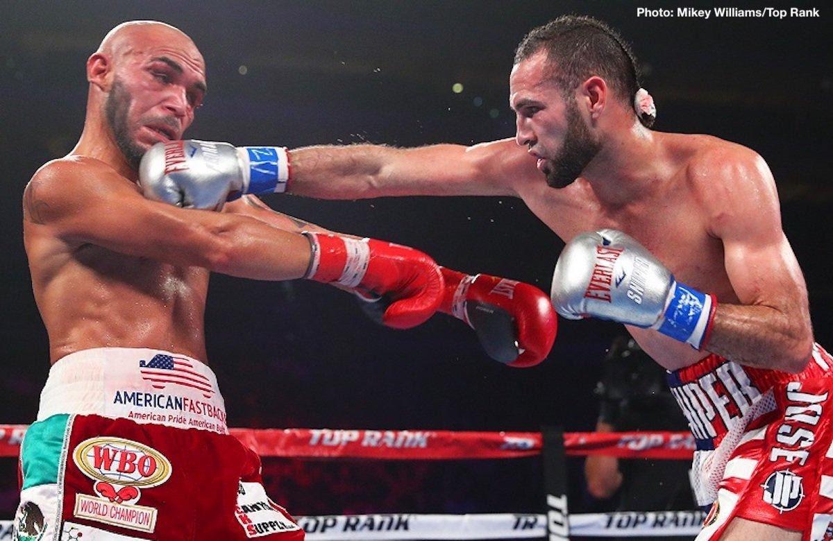 Raymundo Beltran - Jose Pedraza dethroned WBO lightweight champion Raymundo Beltran, and WBO super bantamweight champion Isaac Dogboe crushed Hidenori Otake (31-3-3, 14 KOs) by a 1st round knockout on Top Rank Boxing on ESPN+ on Saturday night at the Gila River Arena in Glendale, Arizona.