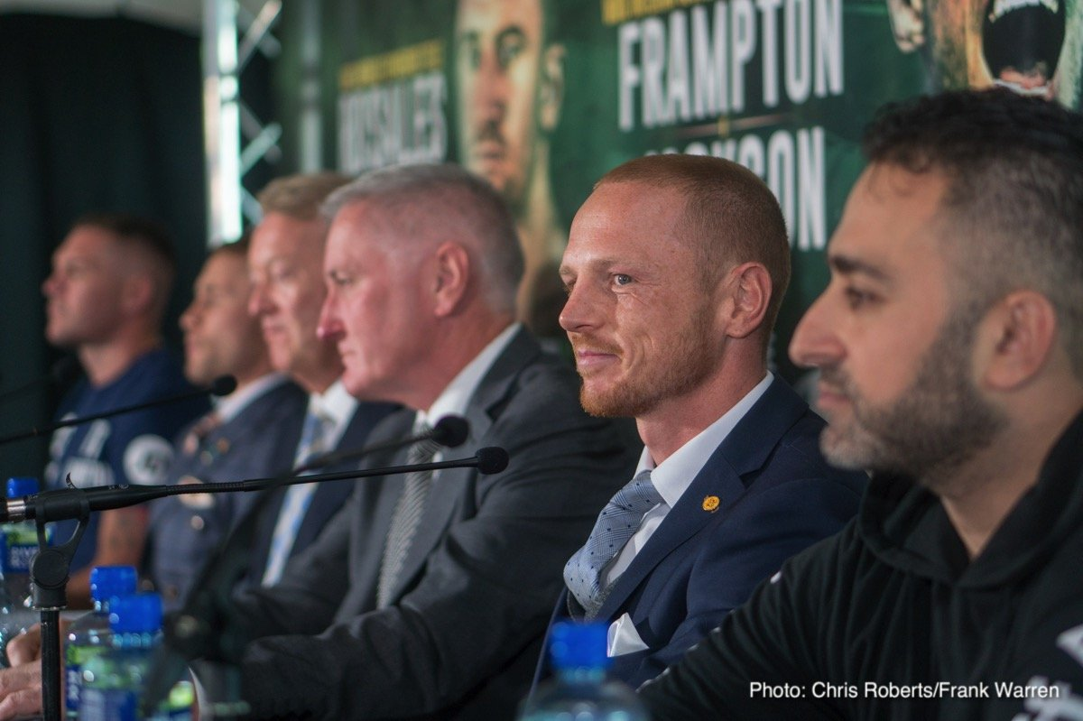 Carl Frampton, Cristofer Rosales, Luke Jackson, Paddy Barnes - Former two-division champion Carl Frampton and undefeated Australian contender Luke Jackson faced off on Thursday in Belfast during the final press conference for their featherweight showdown Saturday from Windsor Park. Frampton's first defense of the WBO interim belt he won in April will stream live exclusively to U.S. audiences on the SHOWTIME Boxing Facebook page and SHOWTIME Sports YouTube channel beginning at 3:30 p.m. ET/12:30 p.m. PT. SHOWTIME will air an encore presentation later that evening on SHOWTIME EXTREME® (10 p.m. ET/PT).
