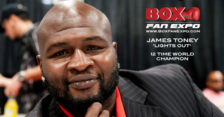 "Abner Mares, James Toney, Mikey Garcia - 12-Time world champion James ""Lights Out"" Toney has confirmed that that he will appear and hold a Meet & Greet with his fans at the Las Vegas Convention Center for the fourth Annual Box Fan Expo on Saturday September 15, 2018 from 10am to 5pm, during Mexican Independence Day weekend. The Boxing Expo will also coincide with the highly anticipated rematch between Saul 'Canelo' Alvarez vs Gennady 'GGG' Golovkin, that will take place later that evening at the T-Mobile Arena."