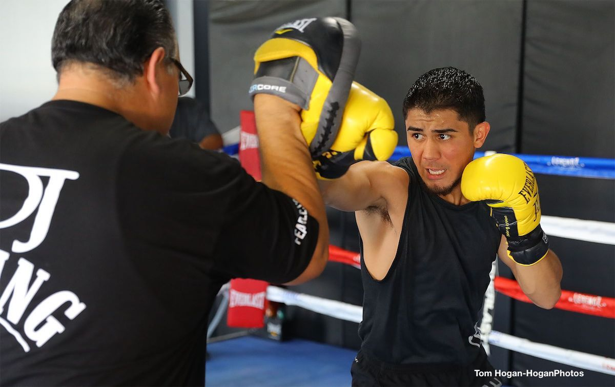 "Joseph ""Jojo"" Diaz Jr. - Joseph ""JoJo"" Diaz Jr. (26-1, 14 KOs) hosted a media workout today at Legendz Boxing in Norwalk, Calif. in preparation for his battle for the WBA Featherweight World Title currently held by Puerto Rican warrior Jesus Rojas (16-1-2, 19 KOs) in the inaugural edition of Golden Boy Fight Night on Saturday, Aug. 11. The 12-round battle will be Diaz, Jr.'s second opportunity at a world title in the stacked featherweight division."