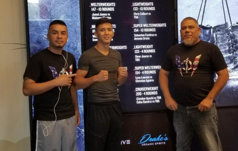 "- Highly decorated 19-year old amateur standout, Omar ""El Relampago"" Juarez, is eager to show the world his talent when he makes his pro debut tomorrow on the PBC prelims on FS1 card in Minneapolis, MN.  Juarez, who hails from Brownsville, TX, will face Devon Hostler (3-8, 3 KOs) in a 4-round super-lightweight bout."
