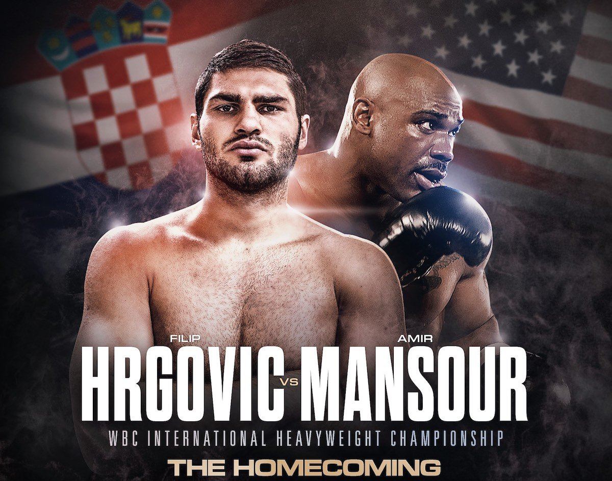 Amir Mansour - Amir 'Hardcore' Mansour (23-2-1, 16 KOs) has replaced Gary Cornish as the opponent for Filip Hrgović's (5-0, 4 KOs) WBC International Heavyweight Championship contest on September 8 at the Arena Zagreb in Croatia.