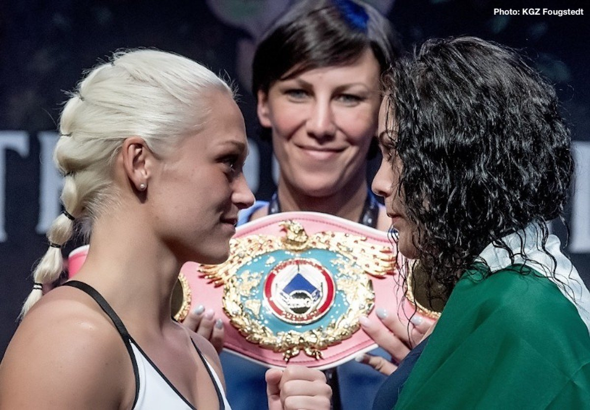 Dina Thorslund - Dina Thorslund (11-0, 5 KOs) and Yessica Munoz (17-1-1, 5 KOs) both made weight today ahead of their WBO Female World Super Bantamweight Championship clash tomorrow night at the Struer Energi Park in Denmark.