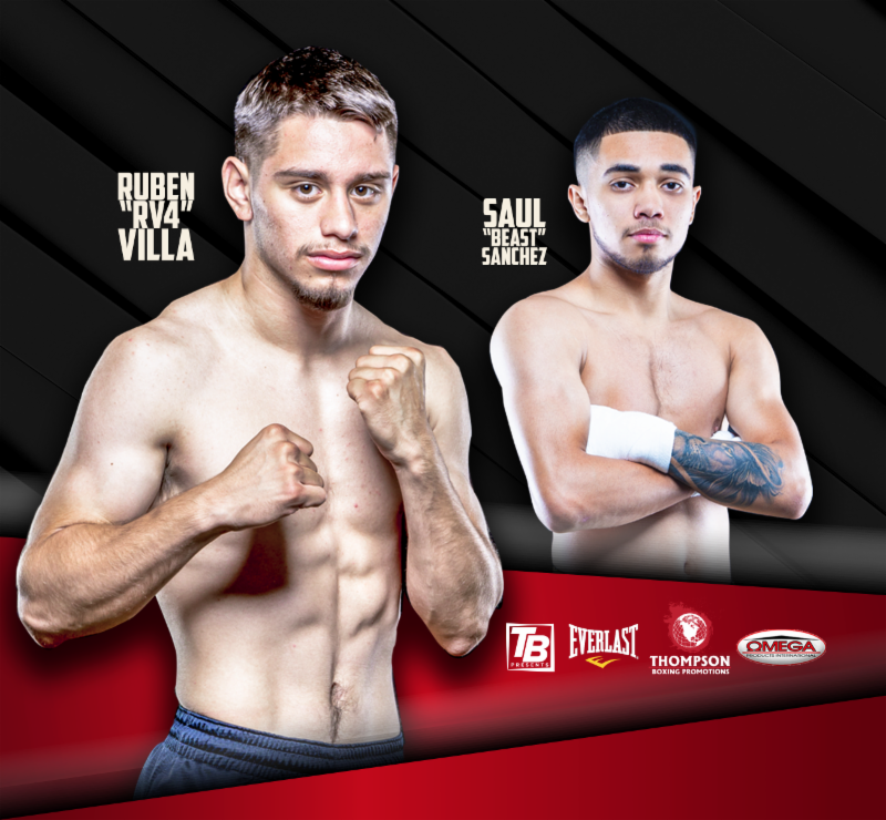 Ruben Villa - Ruben Villa (12-0, 5 KOs), one of the rising talents in the featherweight division, takes to the ring for the fourth time this year on Friday, Aug. 24 from Omega Products International in Corona, Calif.