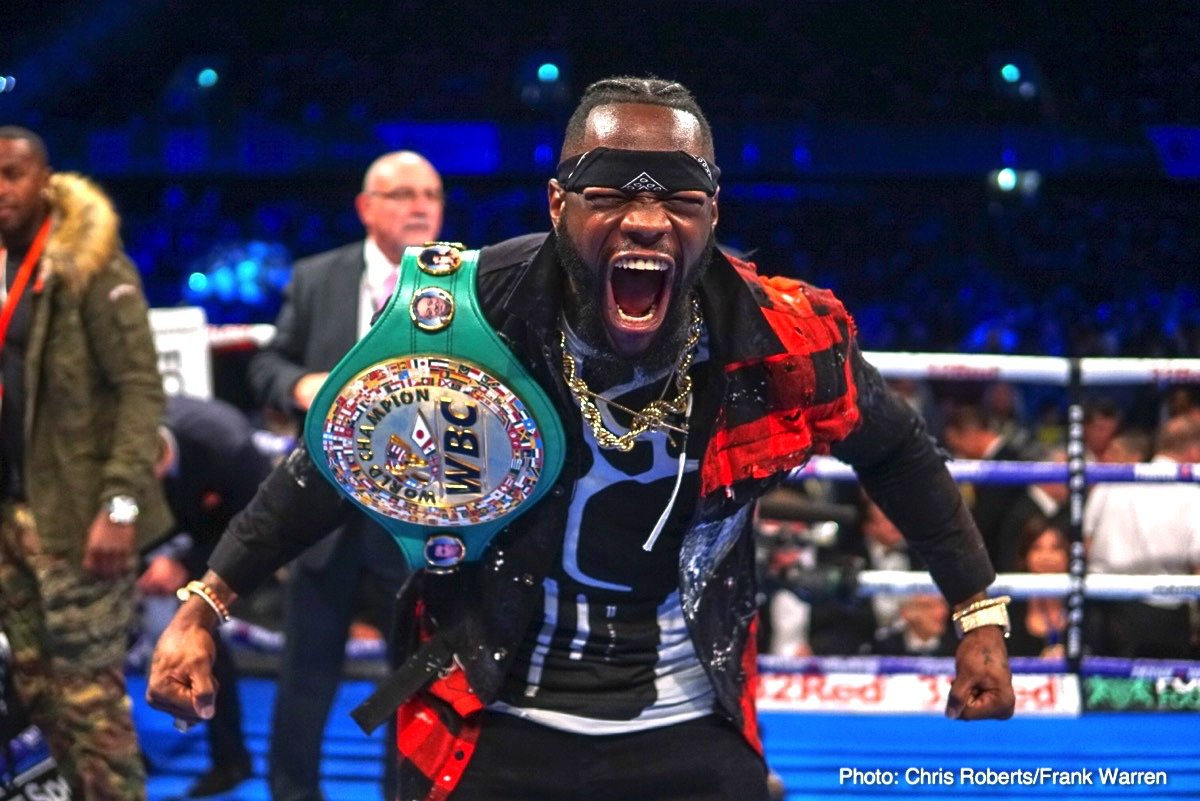 Anthony Joshua Deontay Wilder Boxing News