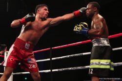Devin Haney, Juan Carlos Burgos -  Nineteen-year-old Devin Haney turned in an impressive performance in a unanimous decision victory in his second consecutive ShoBox: The New Generation main event on Friday night, dominating veteran Mexican fighter Juan Carlos Burgos on SHOWTIME from Pechanga Casino Resort.