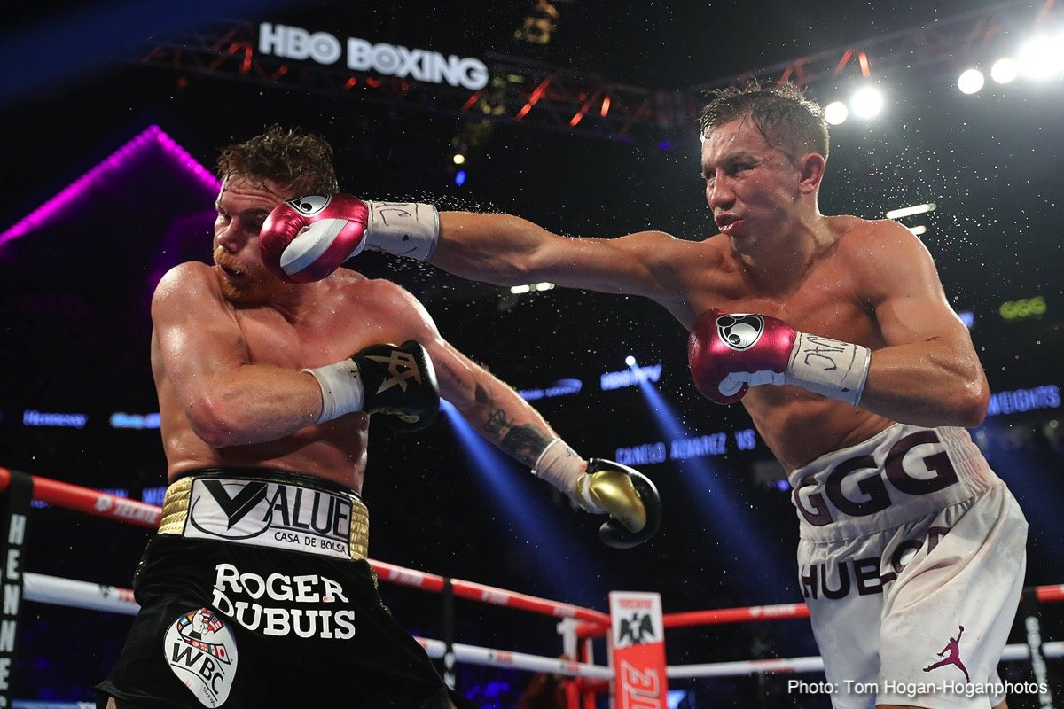 "Brandon Cook, David Lemieux, Gary ""Spike"" O'Sullivan, Gennady Golovkin, Jaime Munguia, Moises Fuentes, Roman Gonzalez, Saul ""Canelo"" Alvarez - In what will surely go down as one of the closest and most hard-fought middleweight title fights in boxing history, Lineal Middleweight World Champion Canelo Alvarez (50-1-2, 34 KOs) went toe-to-toe in 12 rounds of non-stop action to defeat the reigning WBC, WBA and IBO Middleweight World Champion Gennady ""GGG"" Golovkin (38-1-1, 34 KOs) by majority decision in their middleweight championship rematch at T-Mobile Arena."