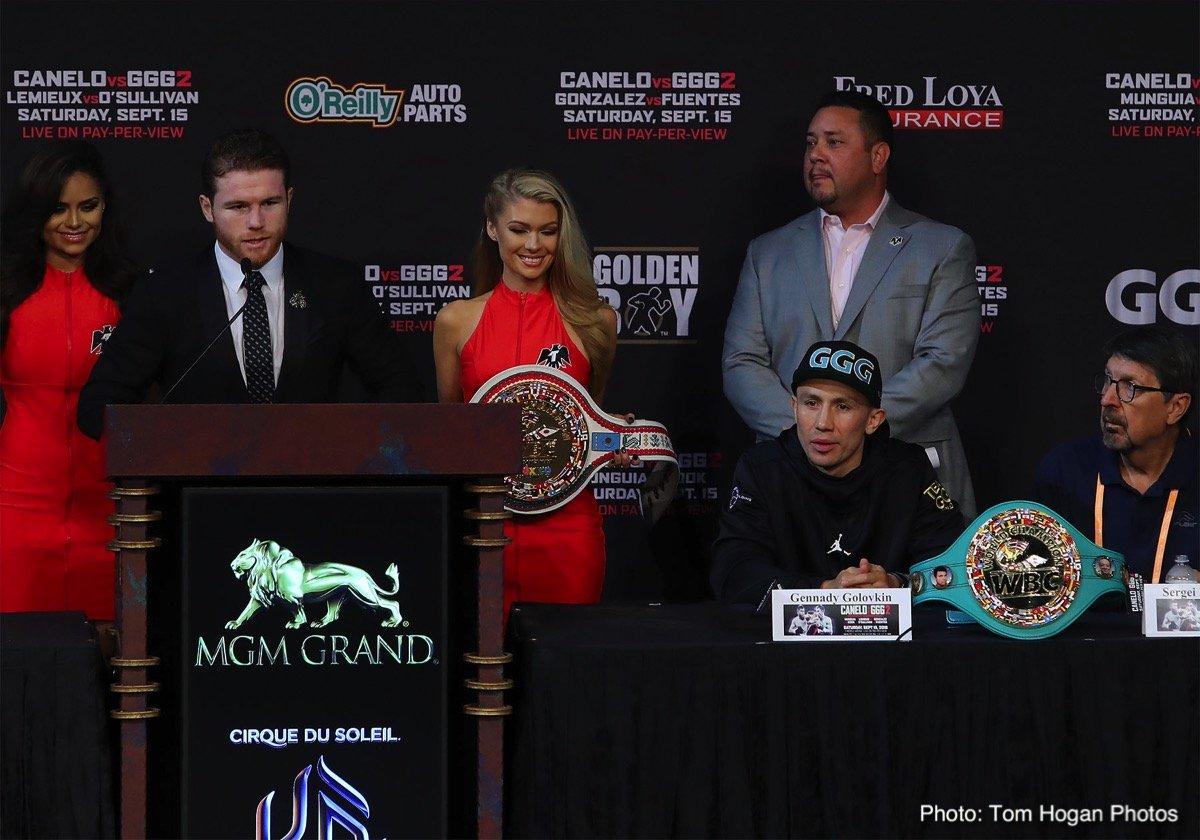 Photos: Canelo, Golovkin 2 final press conference quotes