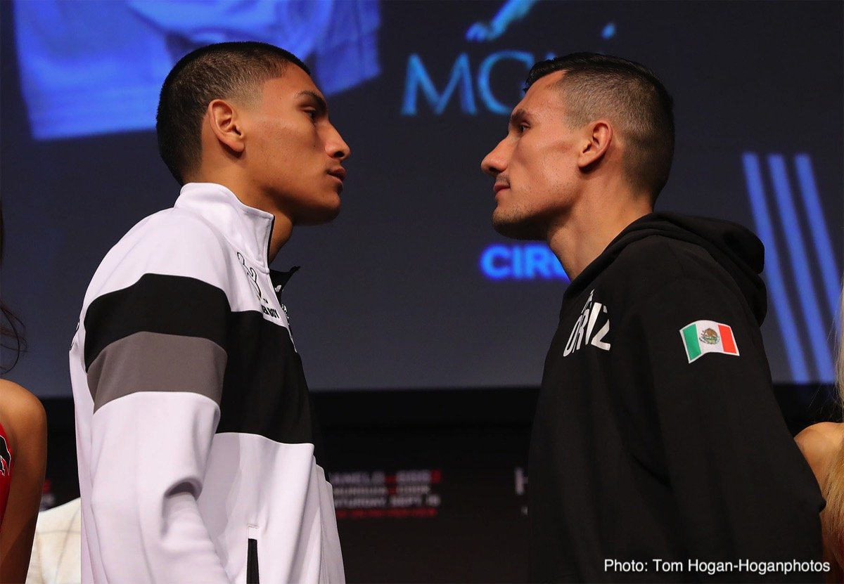 """Brandon Cook, David Lemieux, Gary """"Spike"""" O'Sullivan, Jaime Munguia, Moises Fuentes, Roman Gonzalez - The undercard of the spectacular Canelo vs. GGG 2 card hosted a press conference featuring Mexican star Jaime Munguia (30-0, 25 KOs), who will make the second defense of his WBO Junior Middleweight World Title against rugged Canadian contender Brandon """"Bad Boy"""" Cook (20-1, 13 KOs) in a 12-round battle. Former IBF Middleweight World Champion David Lemieux (39-4, 33 KOs) of Montreal, Canada and Irish warrior Gary """"Spike"""" O'Sullivan (28-2, 20 KOs) of Cork, Ireland will go head-to-head in a 12-round middleweight battle that has Fight of the Year candidate written all over it. Former pound-for-pound king and former four-division world champion Roman """"Chocolatito"""" Gonzalez (46-2, 38 KOs) of Managua, Nicaragua will make his highly anticipated return against experienced Mexican warrior Moises """"Moi"""" Fuentes (25-5-1, 14 KOs) in a 10-round super flyweight battle that will open the HBO Pay-Per-View telecast."""
