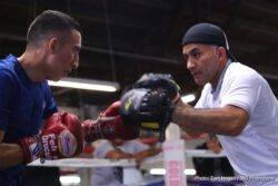 Juan Francisco Estrada - SUPERFLY 3 fight week events kicked off in grand style on Sunday afternoon in Los Angeles as boxing fans and media flooded into the legendary Azteca Boxing Gym to watch the final preparations of Mexican rivals Juan Francisco 'El Gallo' Estrada and Felipe 'Gallito' Orucuta  just six days prior to their main event showdown on Saturday, September 8 at the 'Fabulous Forum' and televised on HBO Boxing After Dark beginning at 9:45 p.m. ET/PT.