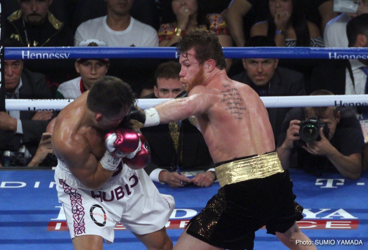 "Gennady Golovkin, Saul ""Canelo"" Alvarez - By Thomas Barry: Terrific match-up Saturday night between the putative top-two middleweights in the division, and undoubted top-tier fighters in the sport. Saul Canelo Alvarez attempted  once again to wrest the belts from Gennady ""GGG"" Golovkin in a 12-round torrid affair in Las Vegas."