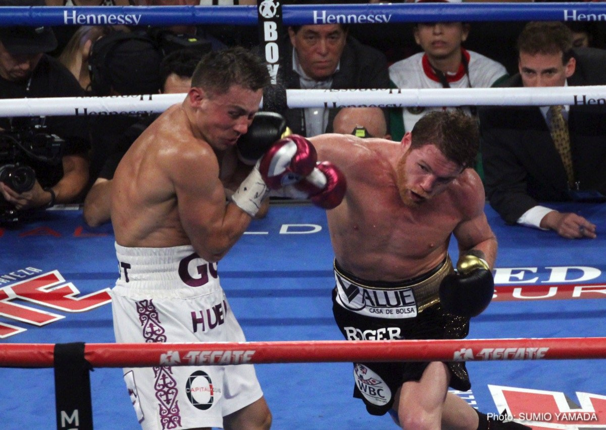 "Gennady Golovkin, Saul ""Canelo"" Alvarez - Saturday night at the T-Mobile Arena in Las Vegas, Nevada, Mexican native Saul ""Canelo"" Alvarez (50-1-2, 34 KOs) defeated Kazakhstan-born and Los Angeles native Gennady (""GGG"") Golovkin (38-1-1, 34 KOs) to garner the IBO, WBA and WBC World Middleweight Title. A rematch of the September 2017 fight-a fight judged a draw-was a spectacular, exciting no-holds-barred bout that demonstrated the best the middleweight division has to offer. The boxers both showed remarkable boxing skills and resolve in a fight that could have gone either way."