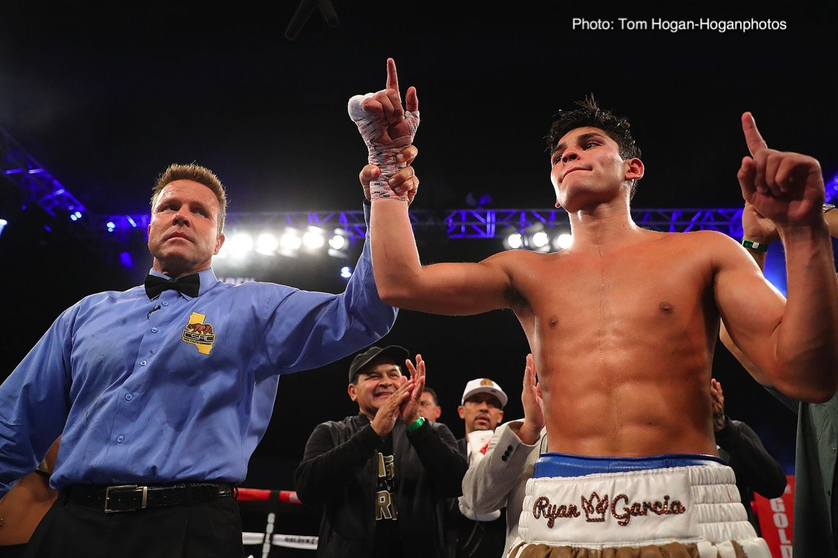 Carlos Morales - Ryan Garcia (16-0, 13 KOs) stayed undefeated with 10 round majority decision victory over Carlos Morales (17-3-3, 6 KOs) on Saturday night in the main event at the Fantasy Springs Resort Casino in Indio, California. The fight was streamed on Facebook Watch and on Golden Boy Fight Night Page. If you're a Garcia fan, you have to be more than a little disappointed in his performance.