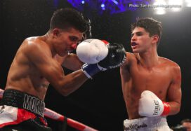 """Carlos Morales, Ryan Garcia - Ryan """"Kingry"""" Garcia (16-0, 13 KOs) of Victorville, California scored a majority decision victory against rugged contender Carlos """"The Solution"""" Morales (17-3-3, 6 KOs) of Los Angeles, California before a sold-out crowd of 2,339 boxing fans at Fantasy Springs Resort Casino in the ten-round main event of the Sept. 1 edition of Golden Boy Fight Night on Facebook Watch. Garcia won two scores of 98-92, while one judge scored it a 95-95 draw. The fight, which was contested in the lightweight division, was streamed live on Facebook Watch in the U.S. and globally on the Golden Boy Fight Night Page."""