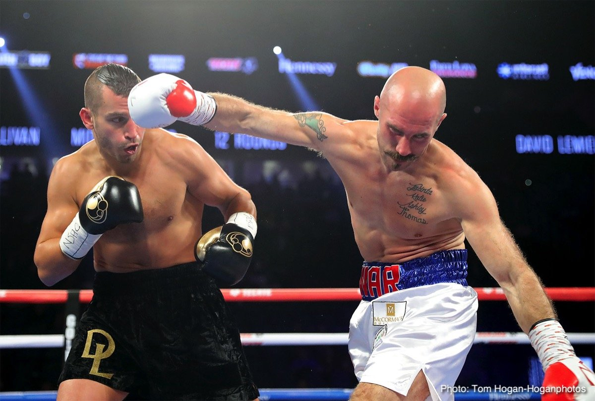 Moises Fuentes - Former middleweight champion David Lemieux (40-4, 34 KOs) showed that he still has a lot left in the tank in smashing Gary 'Spike' O'Sullivan (28-3, 20 KOs) in winning a 1st round knockout on Saturday night in their grudge match on the undercard of Saul Canelo Alvarez vs. Gennady Golovkin on HBO pay-per-view at the T-Mobile Arena in Las Vegas, Nevada.